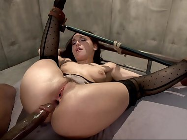 Helpless slutty mom dicked hard anally with..