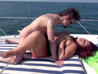 Cora Kitty and Lolita are fucking on the boat