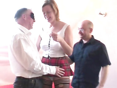 Lara Latex fuck with two big dicks