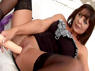 Dark-haired Carly G fuck with big pole