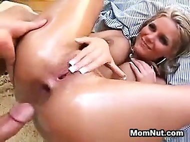 Hot Blonde Mom Wants To Be Anal Fucked