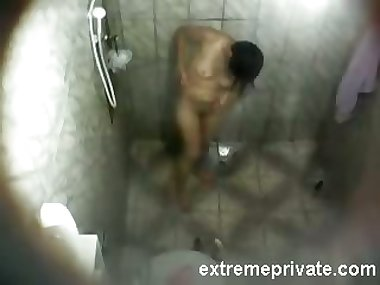 Hidden camera mexican Mom in shower