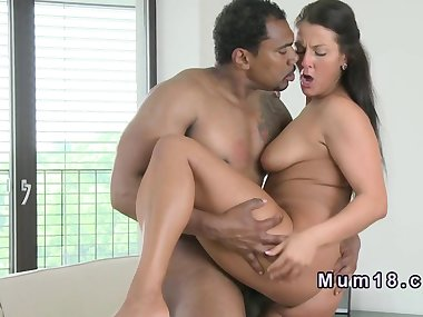 Natural busty mom fucks black dick
